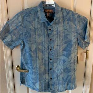 New Men's Medium Caribbean Joe 100% Silk shirt